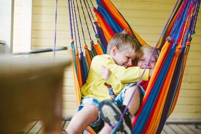 Boys in a hammock