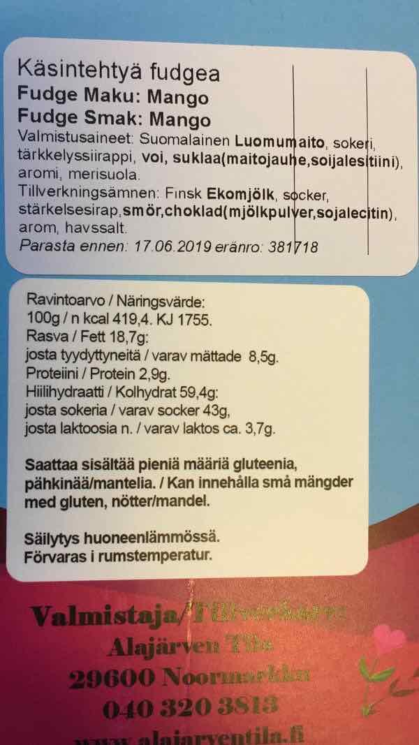 Mangoa-tuoteseloste